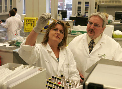 Cofounders of Health Diagnostic Laboratory, Tonya Mallory, CEO, and Joe McConnell, Chief Medical Officer.  (PRNewsFoto/Health Diagnostic Laboratory, Inc.)