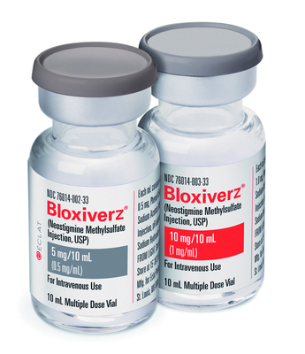 BLOXIVERZ(R), The Only FDA-Approved Neostigmine Methylsulfate Injection Available With All Leading Wholesalers!  (PRNewsFoto/Eclat Pharmaceuticals )