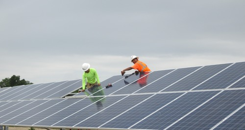 Three new utility-scale solar farms have begun producing power as part of the first half of a $100M solar ...