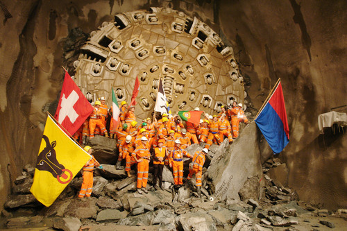 Massive Boring Machines Rely on Timken When Making Way for the World's Longest, Deepest Rail Tunnel