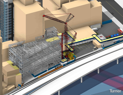 Turner Construction Company received approval for BIM-based site safety plans for two projects at New York University.  (PRNewsFoto/Turner Construction Company)