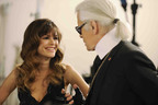 Actress Rachel Bilson receives direction from Karl Lagerfeld on the set of an original film series inspired and produced by Magnum ice cream, one of the world's most popular ice cream brands and launching in the U.S. this spring.  The films, created and directed by Mr. Lagerfeld, evoke the lifestyle of pleasure and luxury Magnum ice cream has cultivated around the world for more than 20 years.  (PRNewsFoto/Magnum Ice Cream, Olivier Saillant)