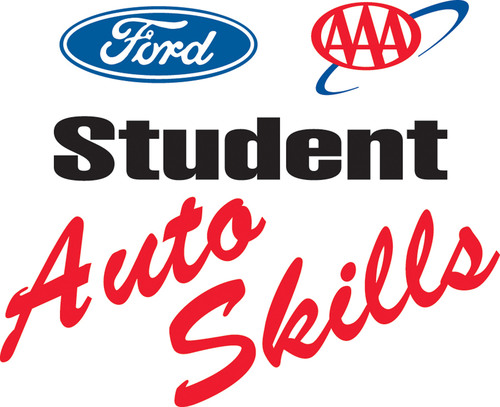 Ford/AAA Student Auto Skills logo.  (PRNewsFoto/AAA and Ford)