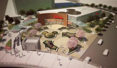 Artist impression: aerial view of the proposed Disney Store, Shanghai.  (PRNewsFoto/The Walt Disney Company)