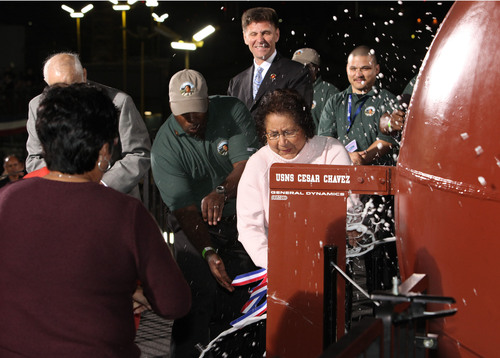General Dynamics NASSCO Launches USNS Cesar Chavez (T-AKE 14)