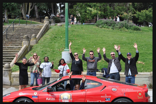 Burlingame, CA - August 4, 2011 - CarWoo!-FOG Rally for Opportunity Impact sponsored by CarWoo!-The team goes ...