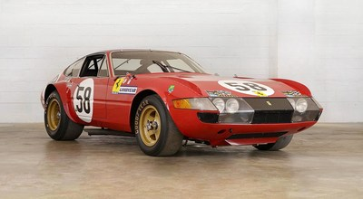 N.A.R.T. 365 GTB/4 Daytona Ferrari, VIN 12467, which finished fifth in the 1971 24-hour Le Mans race. Estimate $4.9m-5.9m. (http://www.kenobrothers.com/auctions/1969-ferrari-365-gtb4-nart-competizione)