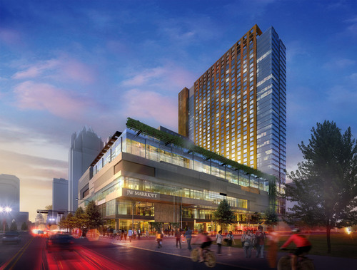 Tuesday White Lodging hosted the groundbreaking of the JW Marriott Austin, scheduled to open in 2015.  (PRNewsFoto/White Lodging)