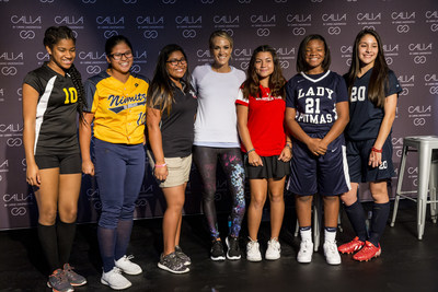 Multi-platinum superstar and CALIA lead designer Carrie Underwood meets with students  during a store appearance at the DICK'S Sporting Goods Grand Opening Celebration at Baybrook Mall in Friendswood, TX on October 21, 2016.  (Photo by Scott Dalton/Invision for DICK'S Sporting Goods/AP Images)