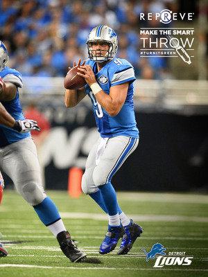 The Detroit Lions join the REPREVE #TurnItGreen movement to drive recycling education.