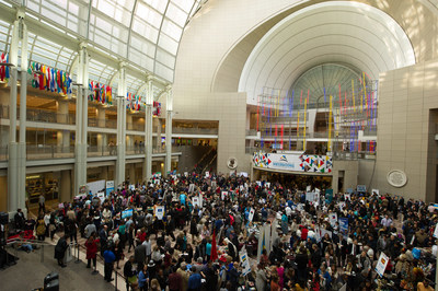 More than 3,000 Visitors Participate in Winternational, the 5th Annual Embassy Showcase featuring 37 embassies, at the Ronald Reagan Building and International Trade Center.