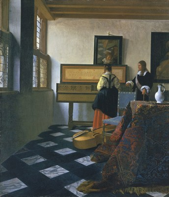 Johannes Vermeer, 'The Music Lesson', ca 1660-1662, Royal Collection Trust / (C) Her Majesty Queen Elizabeth II 2016. (PRNewsFoto/Mauritshuis)