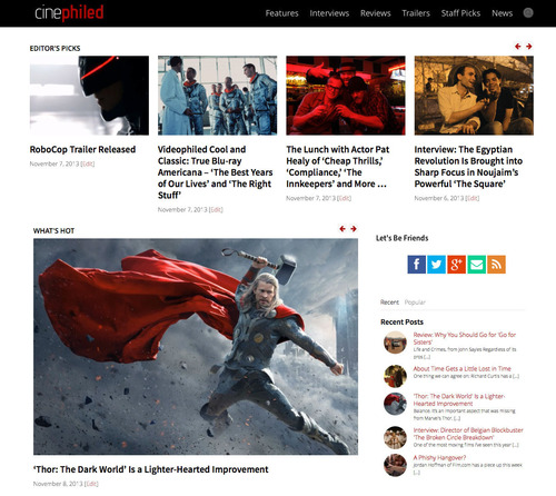 Cinephiled Movie Reviews (PRNewsFoto/Cinephiled)
