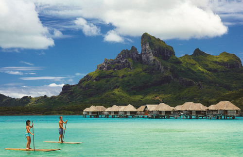 Four Seasons Resort Bora Bora introduces the Romance Menu, offering guests additional opportunities to further enhance their romantic holiday. The menu is designed to provide a playful selection of romantic amenities, some of which can be quickly and discreetly delivered to a guest's overwater bungalow or beachfront villa. Others are available on the island and around Bora Bora. (PRNewsFoto/Four Seasons Resort Bora Bora) (PRNewsFoto/FOUR SEASONS RESORT BORA BORA)