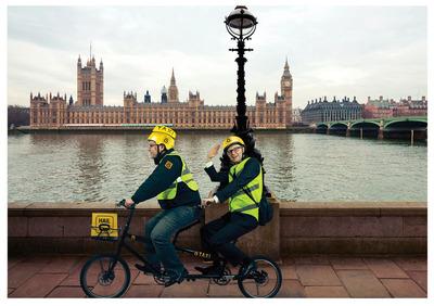 Hailo, the taxi app, introduces innovative Tandem Taxi Bike service.  (PRNewsFoto/Hailo)