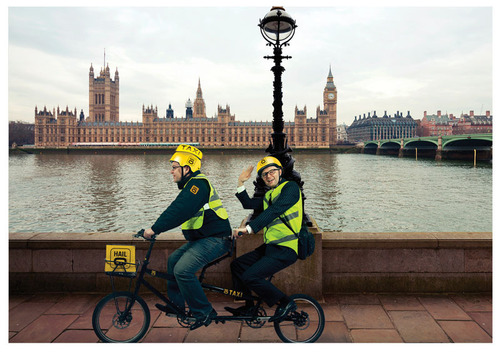 Hailo, the taxi app, introduces innovative Tandem Taxi Bike service.  (PRNewsFoto/Hailo)