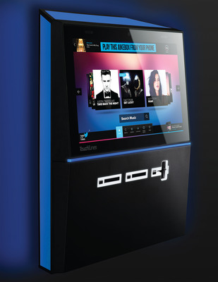 TouchTunes, the largest in-venue interactive entertainment network in North America, today announced Playdium, a next-generation entertainment platform that redefines the possibilities for new and engaging user experiences.  Playdium combines a revolutionary new music experience that allows the jukebox to reflect the unique musical taste of each venue with a sleek, modular design.  Playdium also supports the leading TouchTunes mobile app, and integrated Karaoke and PhotoBooth.  (PRNewsFoto/TouchTunes)