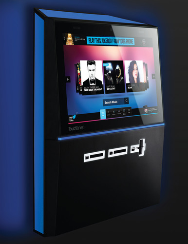 TouchTunes, the largest in-venue interactive entertainment network in North America, today announced Playdium, a next-generation entertainment platform that redefines the possibilities for new and engaging user experiences. Playdium combines a revolutionary new music experience that allows the jukebox to reflect the unique musical taste of each venue with a sleek, modular design. Playdium also supports the leading TouchTunes mobile app, and integrated Karaoke and PhotoBooth. (PRNewsFoto/TouchTunes) (PRNewsFoto/TOUCHTUNES)