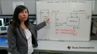 Texas Instruments applications engineer Amy Le explains how to limit the charging current of a supercapacitor.  (PRNewsFoto/Texas Instruments)