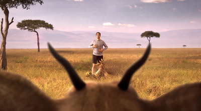 Skechers shows how to catch a cheetah in their new Super Bowl commercial.  (PRNewsFoto/Siltanen & Partners Advertising)