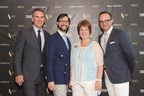 From the left, Jay Meyer, Publisher of Travel + Leisure Magazine, Nathan Lump, Editor-in-Chief of Travel + Leisure Magazine, Betsy Patton and Kristian Anderson, Senior Vice President and General Manager, the Americas at Silversea Cruises.
