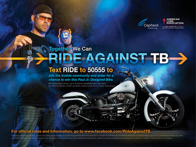 Cepheid Launches Mobile Community for 'Ride Against TB' Campaign to Benefit the American Lung Associationwww.RideAgainstTB.com.  (PRNewsFoto/Cepheid)
