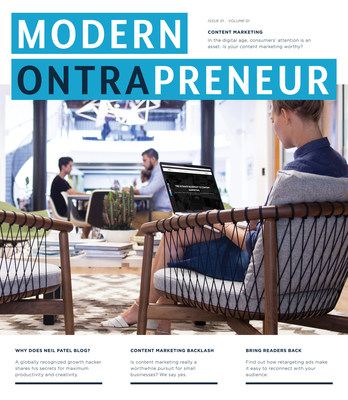 MODERN ONTRAPRENEUR, the latest extension of ONTRAPORT's brand, an online hub featuring interviews with visionary entrepreneurs through articles and podcasts, including the debut of MODERN ONTRAPRENEUR magazine.