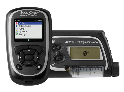 FDA clears Accu-Chek Combo system - Roche's new interactive insulin pump system for people with diabetes.  (PRNewsFoto/Roche Diabetes Care)