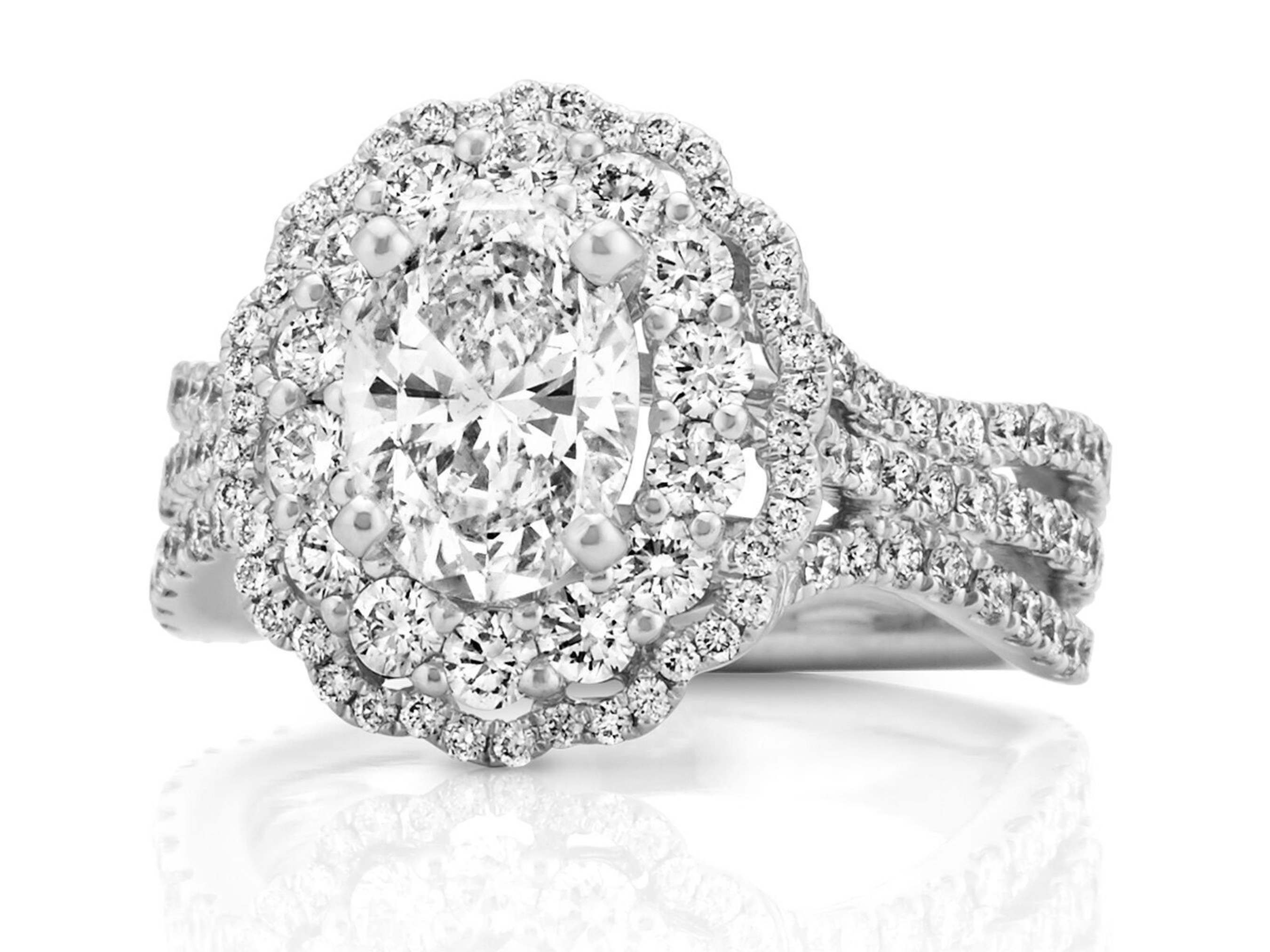 Shane Co. Double Halo Diamond Engagement Ring - Seven Engagement Rings for Christmas 2016