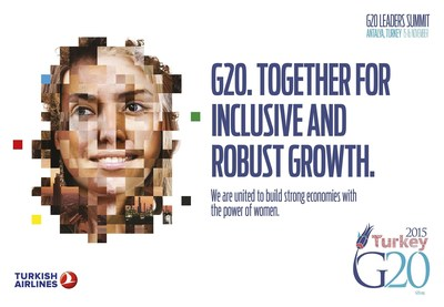 G20 Turkish Presidency took the initiative to establish W20 as a stand alone positive engagement group in 2015. W20 will advocate and monitor G20 commitments on gender-inclusive economic growth and women's economic empowerment. (PRNewsFoto/G20 Turkish Presidency)