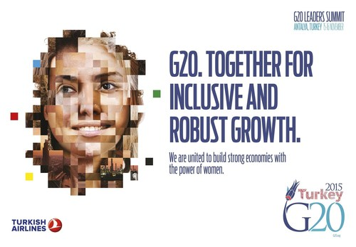 G20 Turkish Presidency took the initiative to establish W20 as a stand alone positive engagement group in 2015. W20 will advocate and monitor G20 commitments on gender-inclusive economic growth and women's economic empowerment. (PRNewsFoto/G20 Turkish Presidency) (PRNewsFoto/G20 Turkish Presidency)