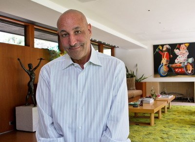 Simpsons co-creator and childrens advocate Sam Simon at his home in Pacific Palisades, Calif. on May 19, 2014. Photo by Richard Parks for Save the Children