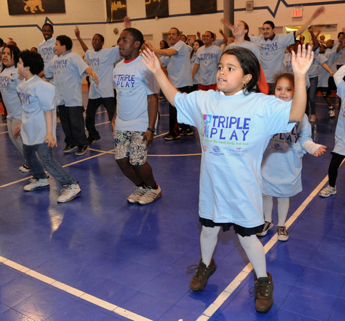 Kids at the Bronx-Based Kips Bay Boys & Girls Club Take on the Guinness World Record for Jumping