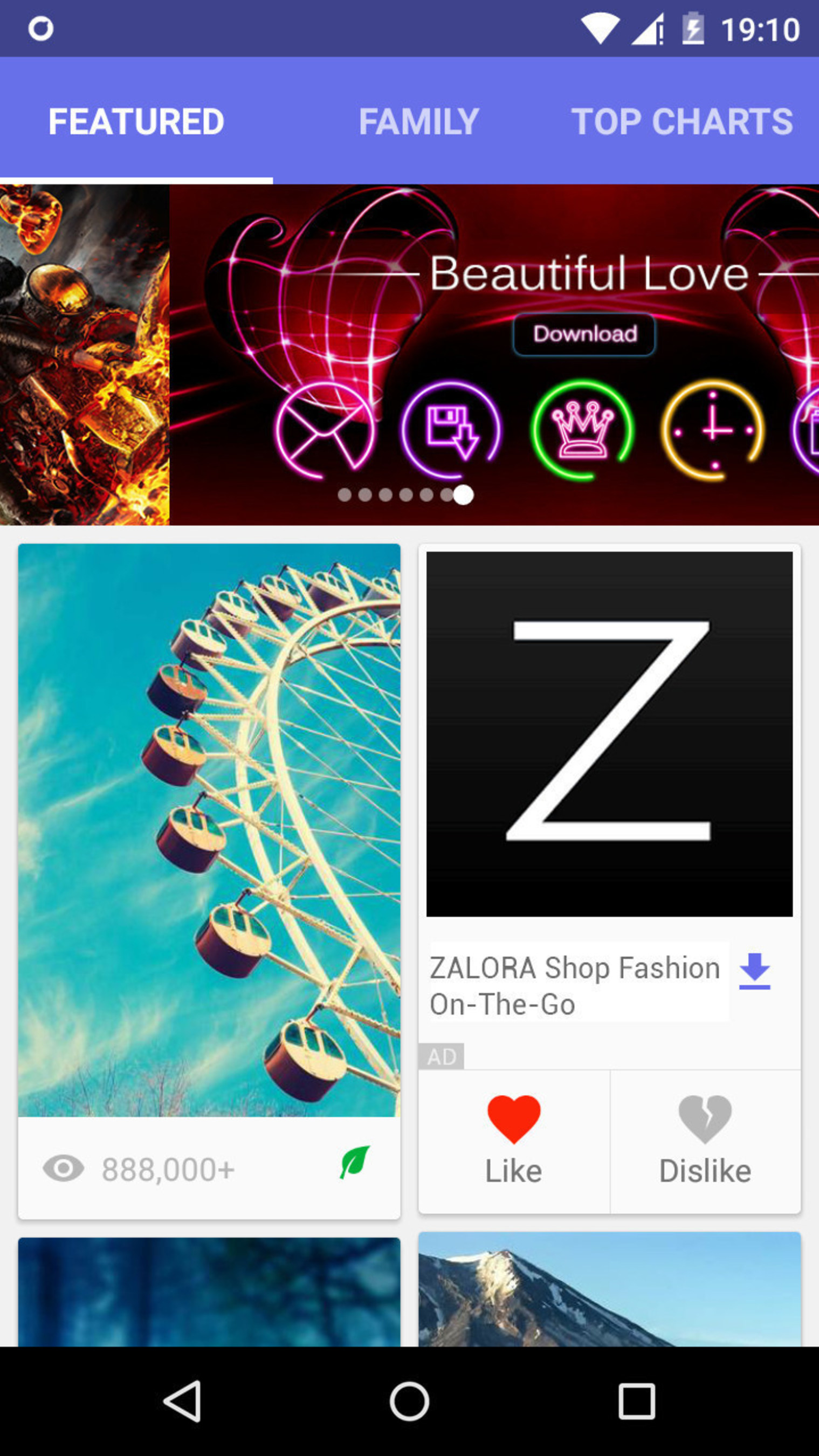 glispa's gNative Native Advertisement for Zalora is non-intrusive & in the flow of a content feed.