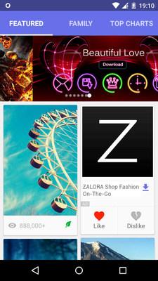 glispa's gNative Native Advertisement for Zalora is non-intrusive & in the flow of a content feed.