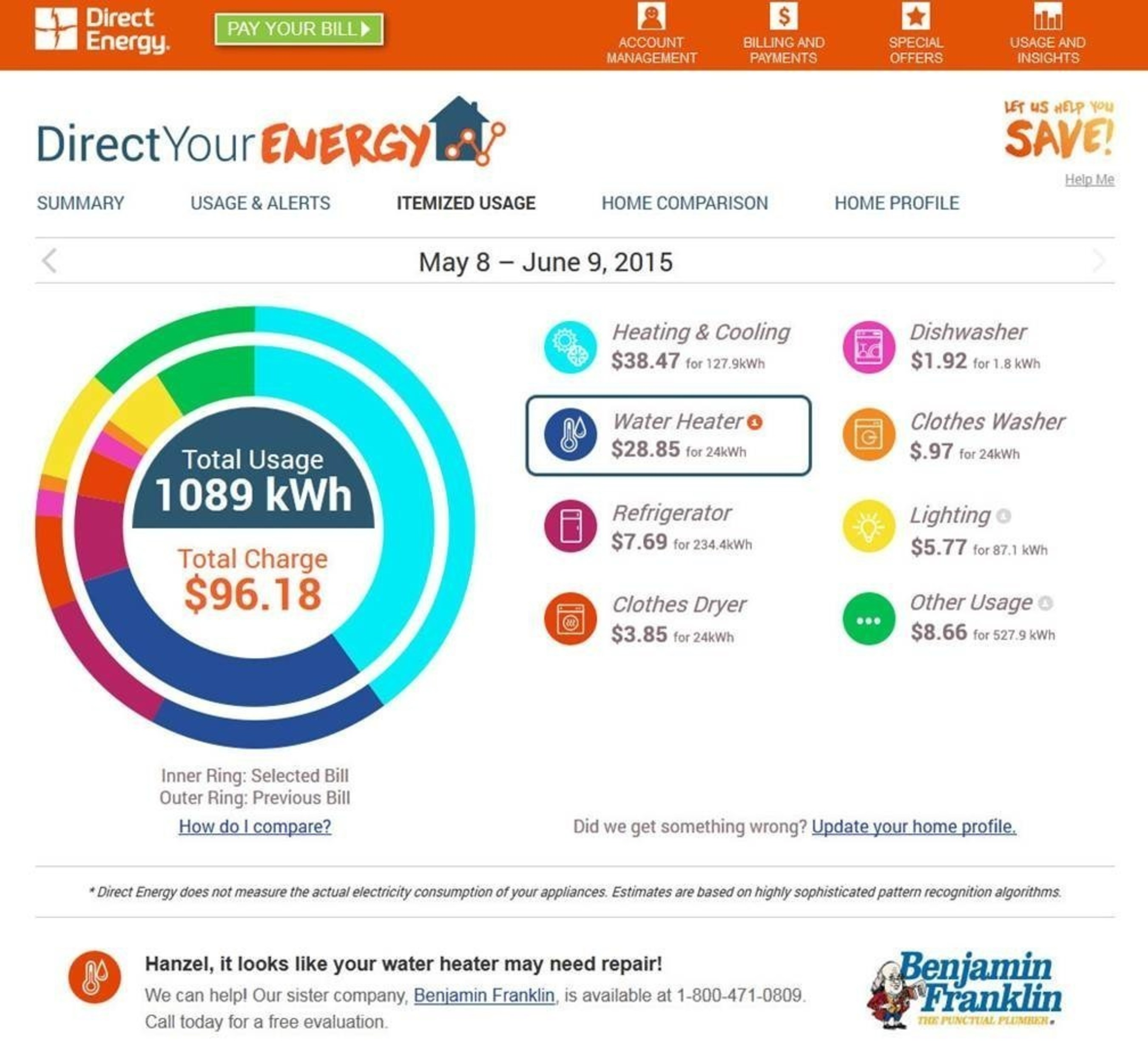 Direct Energy Unveils First-of-its-kind Itemized Electricity Usage for Residential Customers
