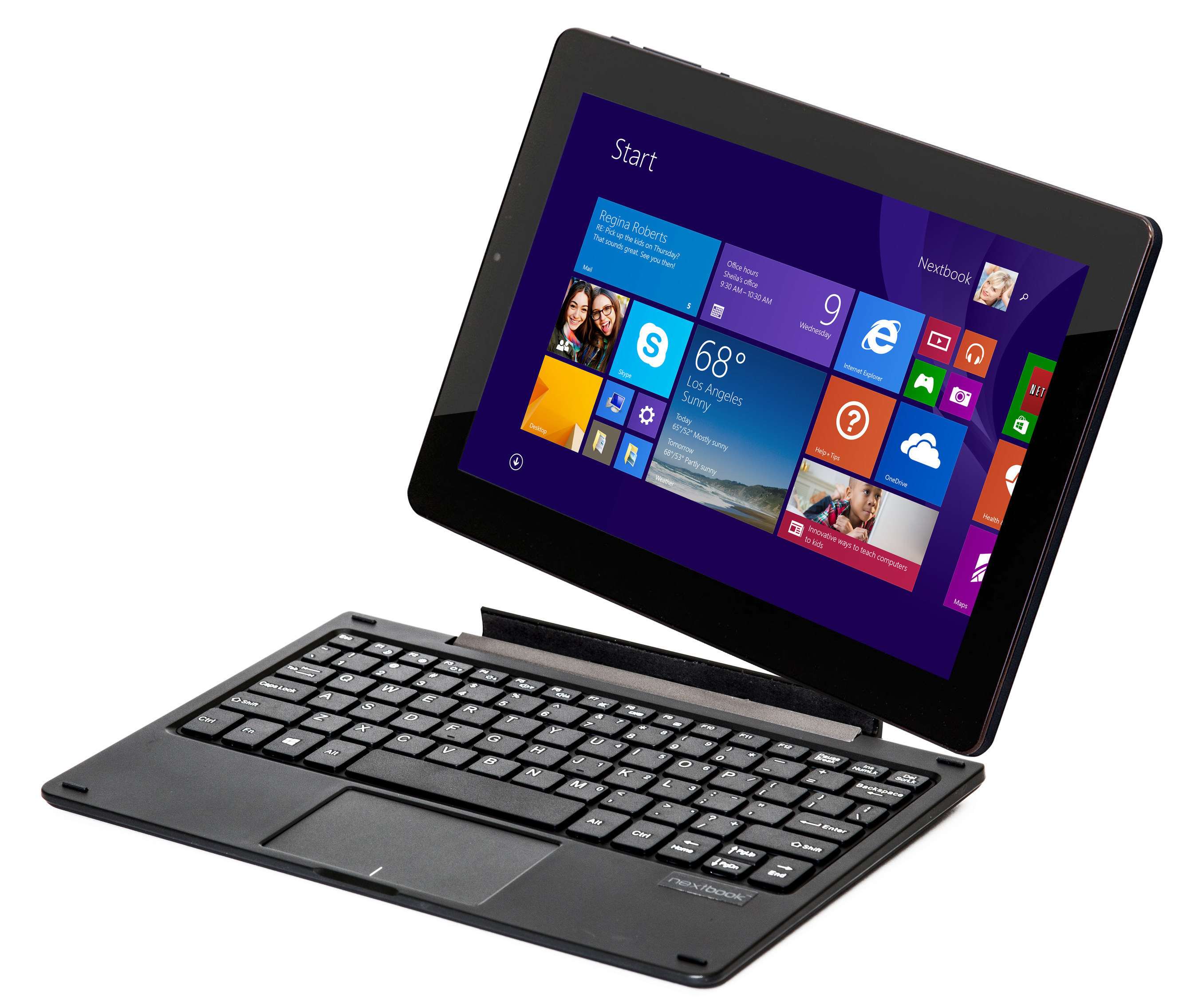 "The first Nextbook Windows tablet from E FUN featuring a 10.1"" IPS screen and detachable keyboard. ..."