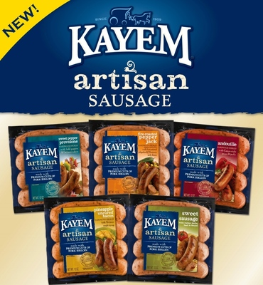 Kayem Unveils New Artisan Sausage Line, Bringing Unique Flavor Combinations To The Grill And The Kitchen. (PRNewsFoto/Kayem Foods)