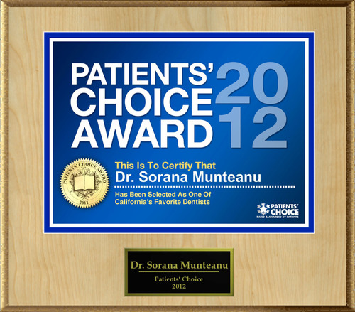 Dr. Munteanu of Santa Clara, CA has been named a Patients' Choice Award Winner for 2012.  (PRNewsFoto/American Registry)