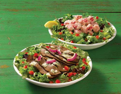 Are you Team Surf or Team Turf? With Quiznos Limited Time Lobster & Seafood Salad Sub and Black & Blue Salad ...