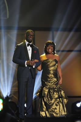 Last year's hosts, Rickey Smiley and Sherri Shepherd at the 29th Annual Stellar Gospel Music Awards. (Photo Credit: Moses Robinson/Linximages, courtesy of The FrontPage Firm) (PRNewsFoto/Central City Productions, Inc.)