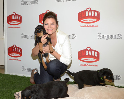 Actress and animal advocate, Tiffani Thiessen, visits the Bergen County Animal Shelter  in Teterboro, NJ on Tuesday, February 5, to kick off Sergeant's Pet Care Products' emBARK on Pet Health campaign. Pet owners take a simple pledge to become more mindful of their pet's overall health needs and for every pledge, Sergeant's is committed to donating up to 5,000 Pet Health Kits to shelters nationwide with the help of American Humane Association. While at the shelter, Tiffani was able to conduct some of the most important routine tasks in keeping pets healthy every day including playtime, grooming and teeth brushing.