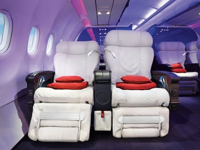 Virgin America Celebrates Touch Down at Love Field and Unveils New First Class VIP Check-in Experience (PRNewsFoto/Virgin America)
