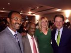 From left to right: Tesfaye Salilew Manager, IT Infrastructure and E-Channel Management Dept, Zemen Bank; Ato Tsegay Tetemke, President, Zemen Bank; Meabh Maguire, Account Manager, CR2; Sean Sherlock, Ireland's Minister of State at Department of Foreign Affairs
