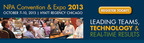 Parking, Business and Economic Leaders Headline National Parking Association's 2013 Convention and Expo--Registration Now Open