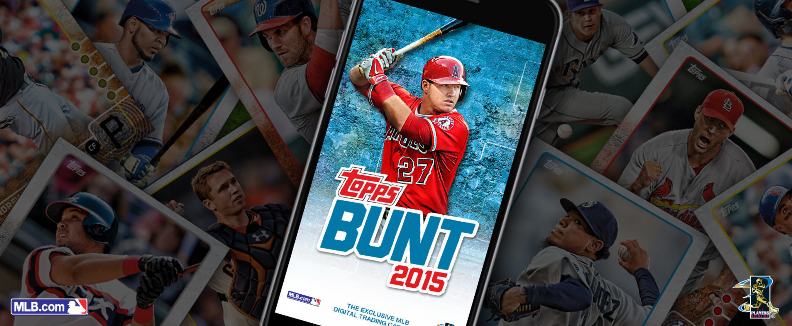 Image shows Topps BUNT 2015 splash screen.