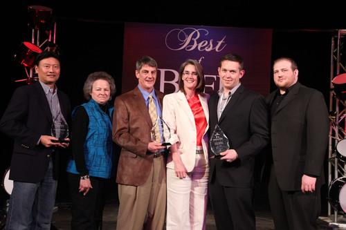 2011 National Foodservice Beef Backer Awards Winners (from left to right):  Paul Yokota, Zippy's; Kelly ...