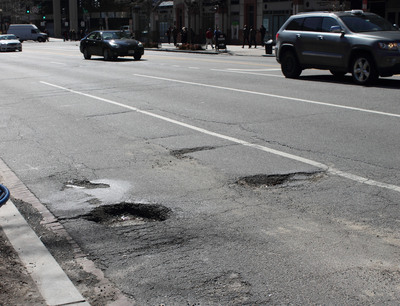 The spring thaw is revealing an outbreak of potholes. Drive carefully to avoid them. Potholes can damage tires and effect wheel alignment. If you hit a pothole, have your vehicle and tires inspected.  (PRNewsFoto/Rubber Manufacturers Association)