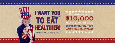 """Ready Pac Foods Petitions U.S. Government to Add """"Freedom to Eat Healthier"""" as the 28th Amendment to Constitution"""