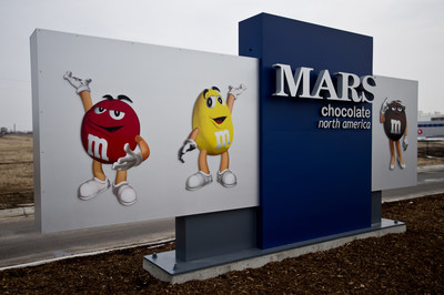 The new Mars Chocolate North America manufacturing facility in Topeka, Kan., has earned LEED(R) Gold certification -an internationally accepted benchmark for designing, constructing and operating green buildings-from the U.S. Green Building Council. The facility opened in March and produces M&M'S(R) Brand Candies and SNICKERS(R) Bars. To learn about Mars' commitment to sustainability, visit http://www.mars.com/pia. (PRNewsFoto/Mars Chocolate North America)